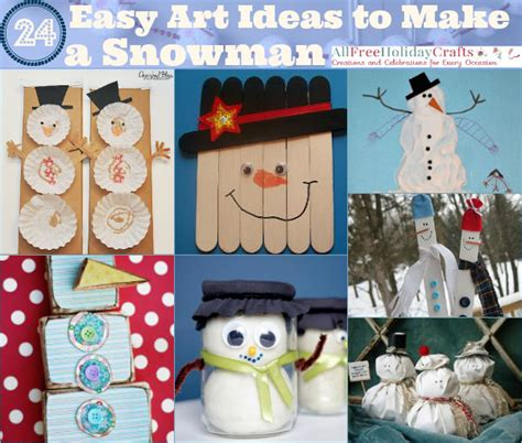 winter crafts for to make easy 24 easy ideas to make a snowman allfreeholidaycrafts