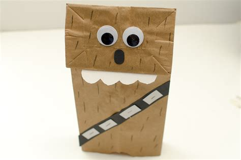 How To Make Puppets With Paper Bags - chewbacca paper bag puppet a grande