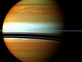 color of saturn nasa nasa spacecraft sees burp at saturn after