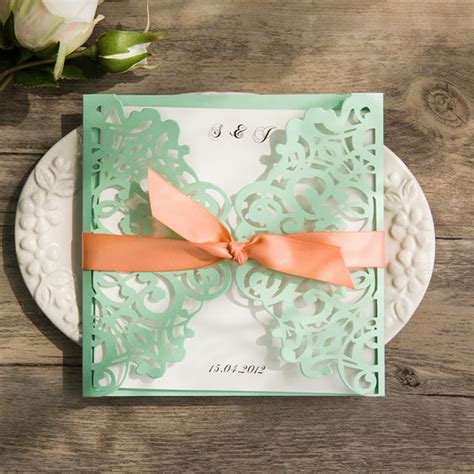 mint green and pink wedding invitations gorgeous mint invitation inspired wedding color combo ideas