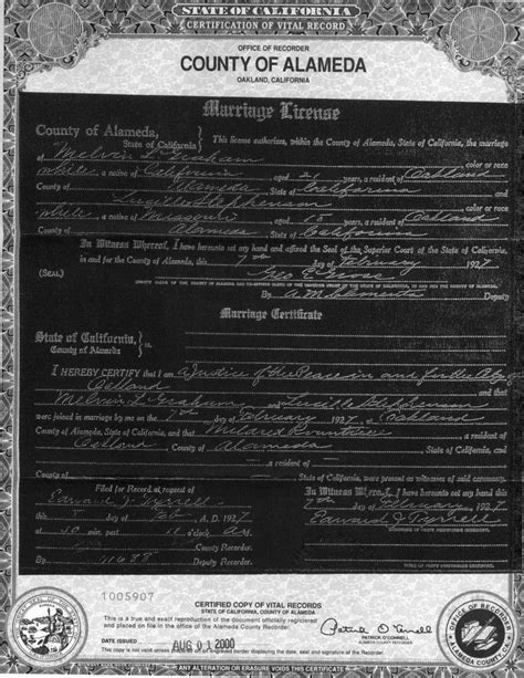 Marriage Records Ca Alameda County California Marriage Records
