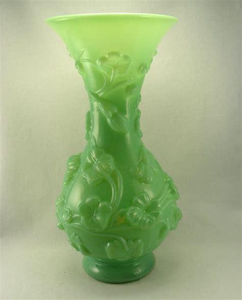 Green Flower Vase by Green Glass Flower Vase Green