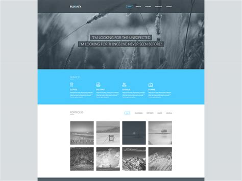 blueasy psd portfolio template freebiesbug