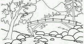 sketsa pemandangan alam yang mudah digambar cara tips dan info menarik