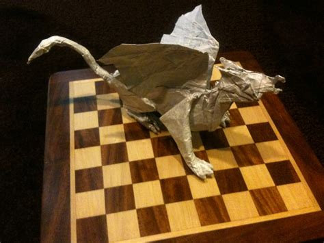 Origami Gryphon - gryphon by serova 12 quot tissue foil folded in