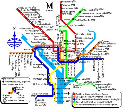 washington dc subway map washington metro and map