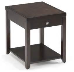 Espresso Mirrors Bathroom Magnussen T1423 Scarborough Wood Rectangular End Table