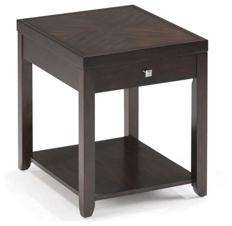 Modern Accent Table Magnussen T1423 Scarborough Wood Rectangular End Table Modern Side Tables And End Tables