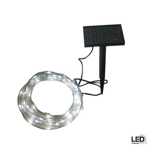 solar powered led rope lights hton bay 16 ft solar led rope light 82056 055sr the home depot