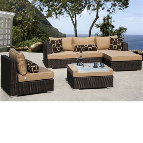 outdoor sectional costco niko 6 piece patio deep seating modular sectional by sirio
