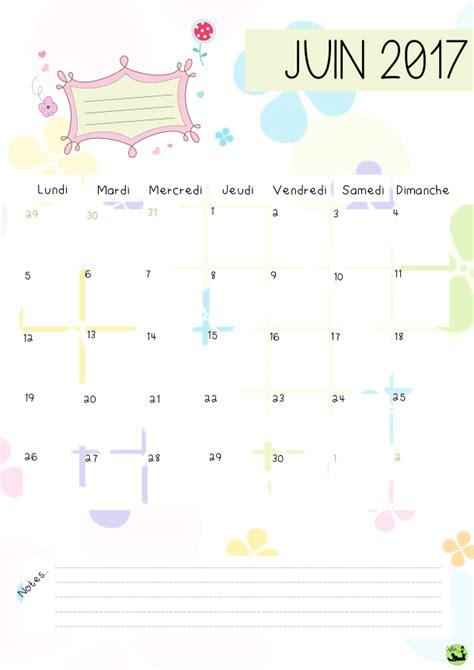 Calendrier Juin Mois De Juin 2017 Calendrier 224 Imprimer Calendriers Pdf