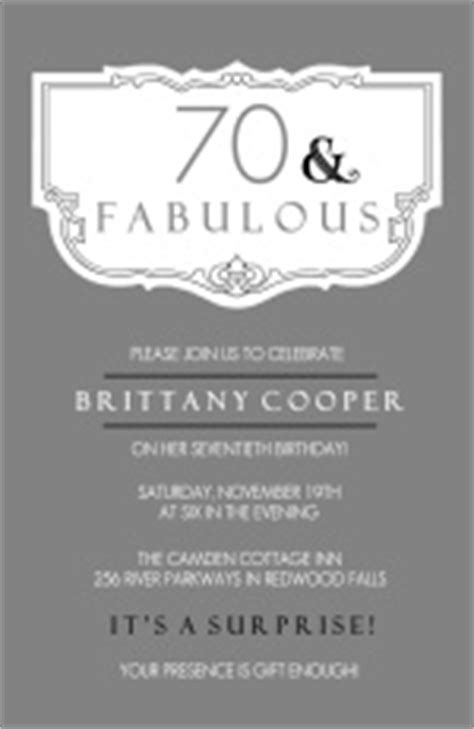 70th Birthday Invitation Template Word 70th Birthday Invitation Wording Template Best Template Collection