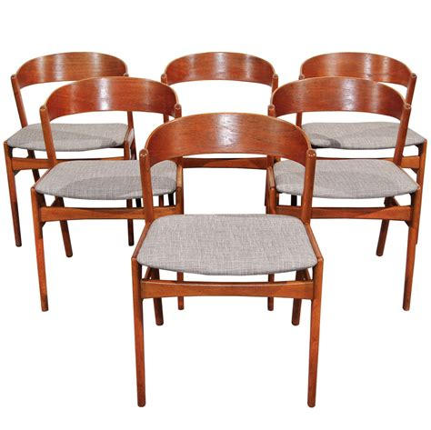 Set Of 6 Ribbon Back Teak Dining Chairs By Dux At 1stdibs Ribbon Back Dining Chairs