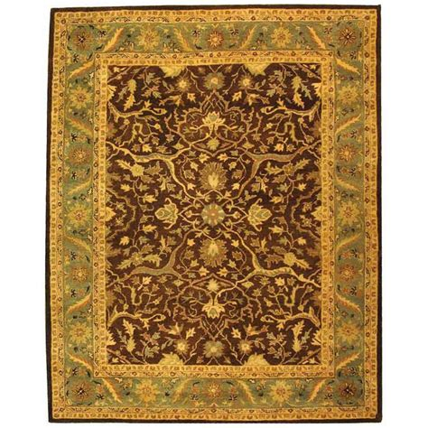Safavieh Antiquity Brown Green 8 Ft 3 In X 11 Ft Area Brown And Green Area Rugs