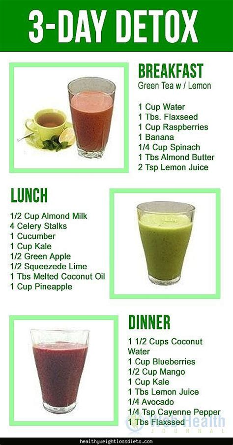 Home Detox Diet Recipes by Detox Diets For Weight Loss Burning Drinks