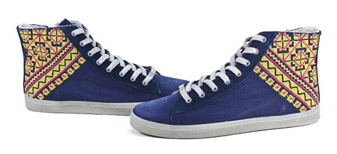 and zozi shoes and zozi woven navy canvas leather high top wedge