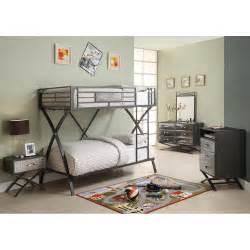 Metal Bedroom Sets spaced out metal gunmetal grey kids twin twin bunk bed bedroom set