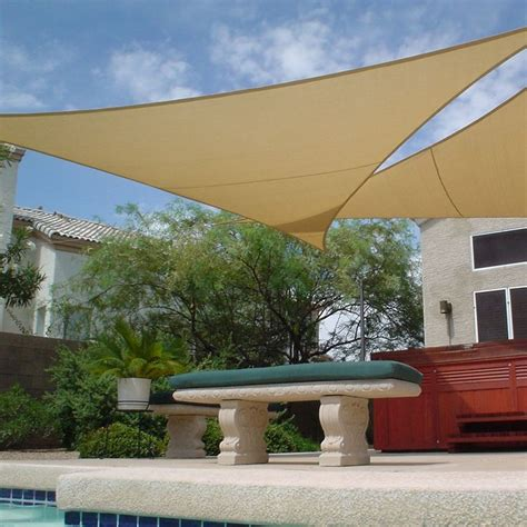 shade sails awnings canopies shade sail triangle 11 10 outdoor living pinterest