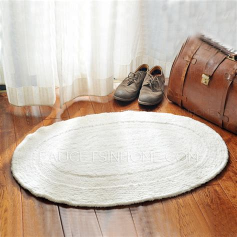 Simple White Oval Shaped 23 6 35 4 Inch Bathroom Rug Oval Bathroom Rug