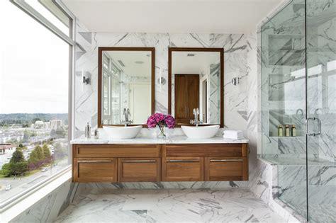 floating vanity contemporary bathroom moeski