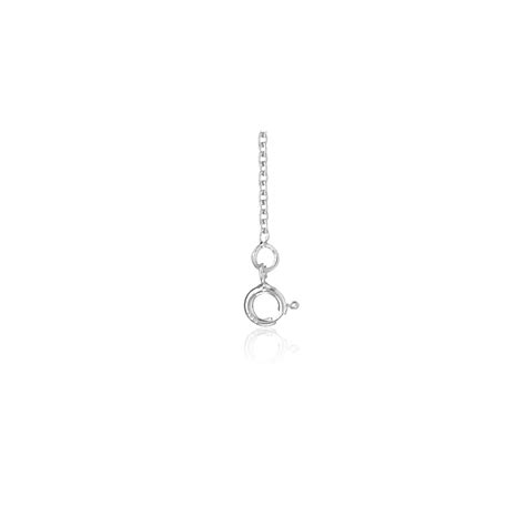 cadena oro blanco 60 cm cadena oro blanco forzada redonda 60 cm ocarat