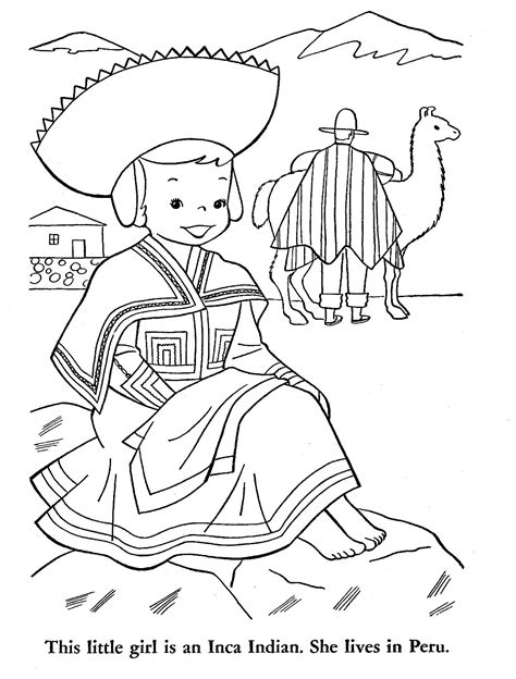 Free Coloring Pages Of Drawing Map Of Peru Peru Coloring Pages
