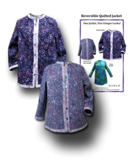 sewing pattern reversible quilted jacket reversible quilted jacket