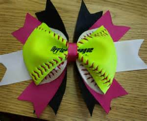 softball hair bows softball hair bow custom made to order with by inspiredcreations3