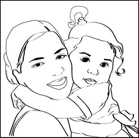 convert photo to coloring page tattoo girl convert photos to coloring book images
