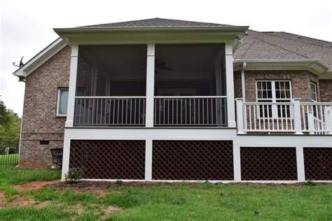 grilling porch davidson nc screen porch and grilling deck lake norman
