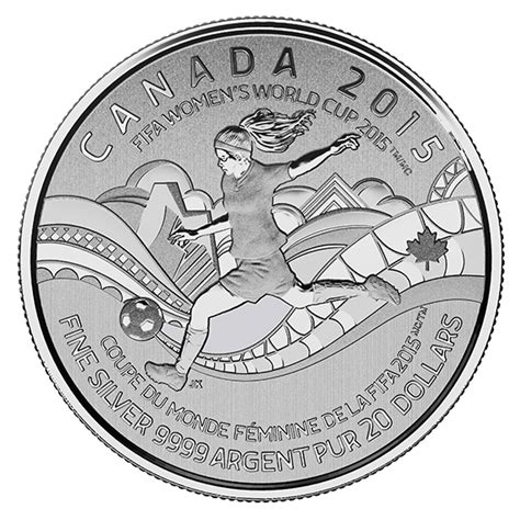 fifa s world cup canada 2015 tm mc 20 for 20 silver coin