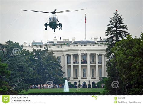 White House Marines by Marine One And White House Royalty Free Stock Photo