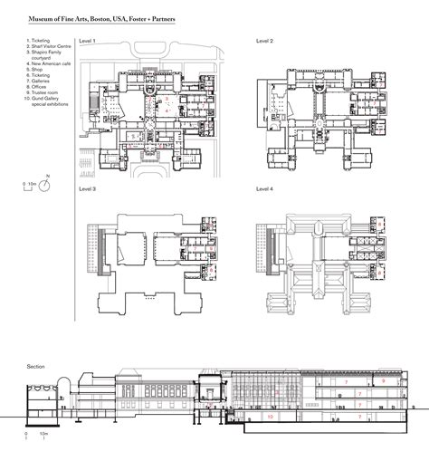partners in building floor plans museum of fine arts boston usa foster partners
