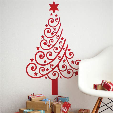christmas wall decorating ideas christmas tree wall sticker by spin collective