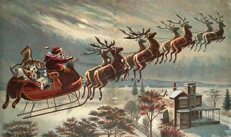 santa reindeer fly christmas bourbonblog