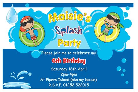 design invitation for birthday party birthday pool party invitations theruntime com