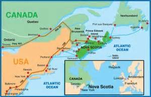map of eastern canada and scotia how to get here from anywhere motorcycle tour guide