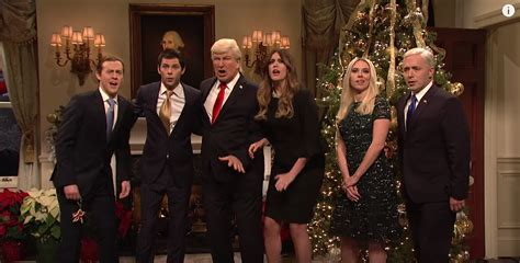 snl trumps white house celebrates christmas  remembering  haters  losers