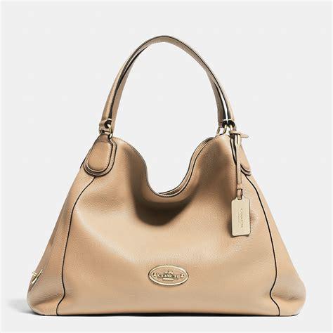 Original Mango Zip Pebbled Bag lyst coach edie shoulder bag in pebble leather in orange