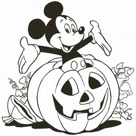 mickey pumpkin coloring page mickey with pumpkin coloring child coloring