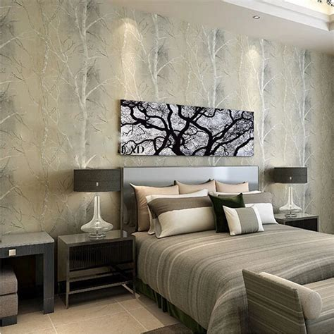 home decor express beibehang natural tree forest textured wallpaper roll
