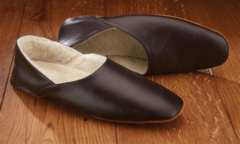 churchill leather slippers s handmade leather slippers groupon goods
