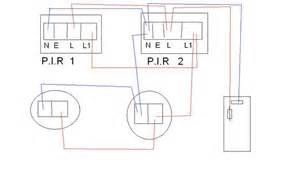 running two or more lights from two pirs wiring diagrams running