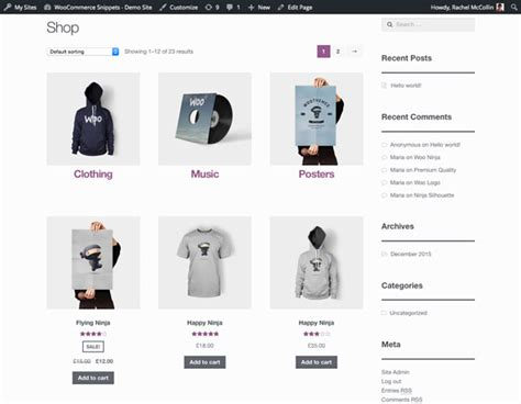 display woocommerce categories subcategories and products