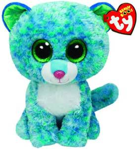 ty beanie boos buddies leona blue leopard medium plush