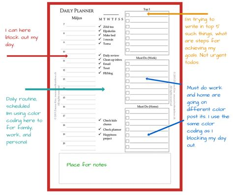 free printable planner inserts 2015 new daily planner insert and free post it template
