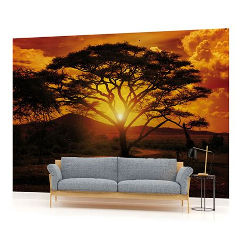 sunset wall mural sunset landscape photo wallpaper wall mural room 055pp ebay