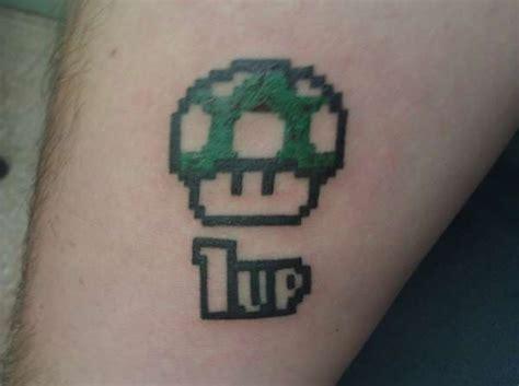 mario mushroom tattoo 1 up ideas