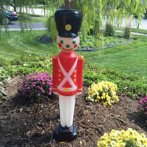christmas gf toy soldier blow mold yard decoration plastic