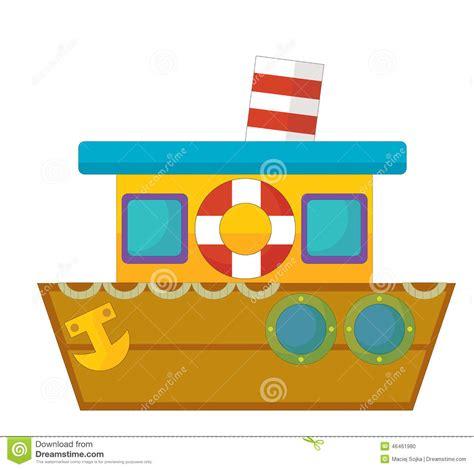 children s boat cartoon cartoon boat caricature stock illustration illustration